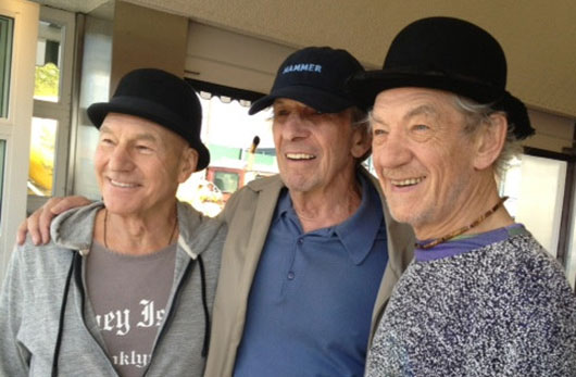 Patrick Stewart, Ian McKellen and Leonard Nimoy Together In Coney Island