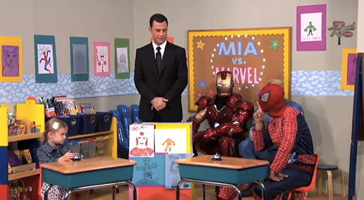 Superhero Quiz: 4-Year-Old Marvel Expert vs. Iron Man, Captain America and Spider-Man Jimmy Kimmel Live