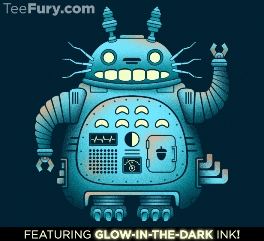 Totoro Glow-In-The-Dark Totorobot Shirt
