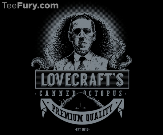 H.P. Lovecraft Canned Octopus Shirt