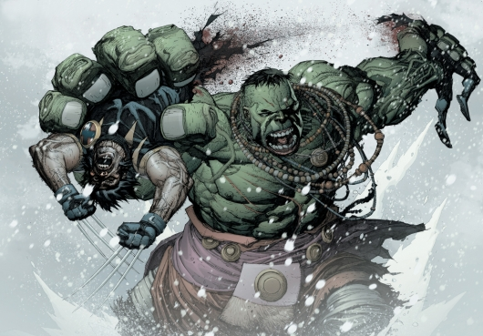 Marvel Knights: Ultimate Wolverine vs Hulk: Hulk rips Wolverine in half