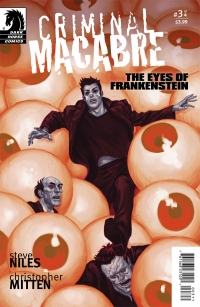 Criminal Macabre: The Eyes of Frankenstein #3 cover by Justin Erickson, Dark Horse Comics