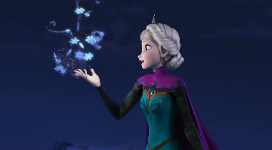 "Disney character Elsa of ""Frozen"" shapes snow and ice"