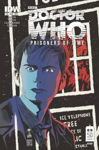 IDW Publishing: Doctor Who: Prisoners of Time #10 cover by Francesco Francavilla