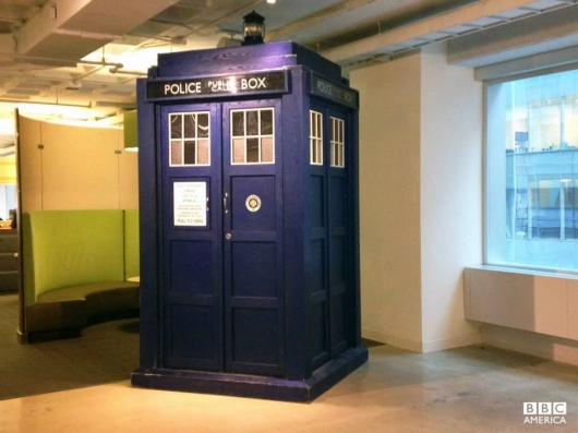 Doctor Who TARDIS Lands at BBC America's New York office