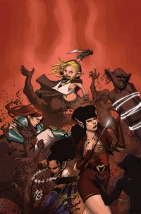 Rat Queens #3 cover by Roc Upchurch, Image Comics
