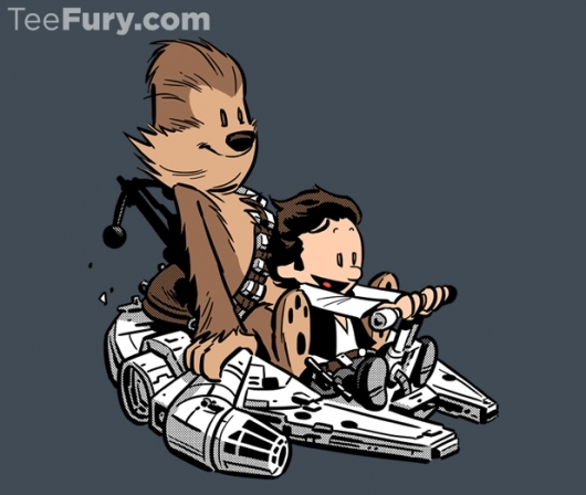 Star Wars Calvin and Hobbes Best Buddies Strikes Back Shirt
