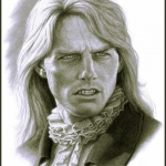 Tom Cruise as Lestat in Interview with the Vampire concept art by Miles Teves