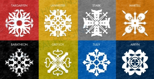 Game Of Thrones Paper Snowflake Pattern designs by Krystal Higgins