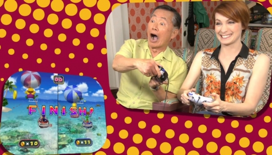 George Takei and Felicia Day Play Mario Party 4
