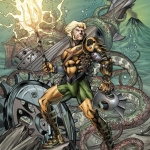 Aquaman #28 variant by Richard Horle
