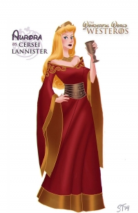 Aurora Sleeping Beauty as Cersei Lannister
