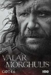 Game Of Thrones: The Hound season 4 character poster