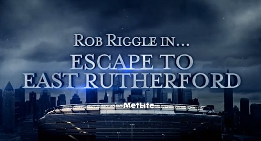 Escape to East Rutherford Super Bowl trailer Rob Riggle, Andy Samberg