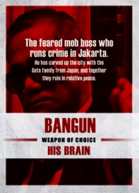 The Raid 2 Trading Cards: Bangun, back