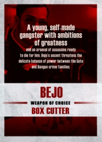 The Raid 2 Trading Cards: Bejo, back