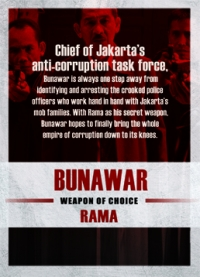 The Raid 2 Trading Cards: Bunawar, back