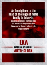 The Raid 2 Trading Cards: Eka, back