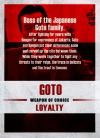 The Raid 2 Trading Cards: Goto, back