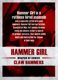The Raid 2 Trading Cards: Hammer Girl, back