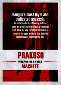 The Raid 2 Trading Cards: Prakoso, back