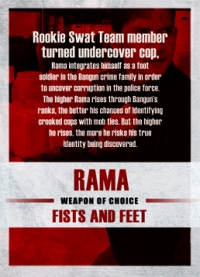 The Raid 2 Trading Cards: Rama, back