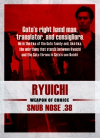 The Raid 2 Trading Cards: Ryuichi, back