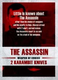 The Raid 2 Trading Cards: The Assassin, back