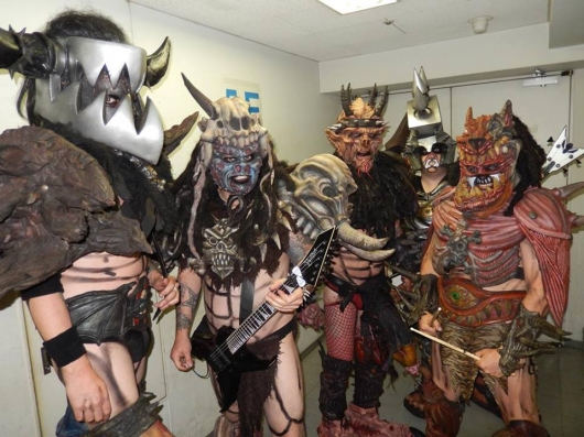 Gwar backstage in Toyko, March 2014