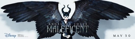 Disney's Maleficent wings banner poster