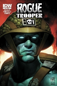 Rogue Trooper #1 cover by Glenn Fabry and Ryan Brown