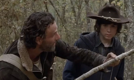 The Walking Dead Season 4 Finale Rick and Carl