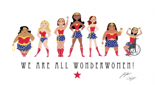 We Are All Wonderwomen print by Catherine and Sarah Satrun