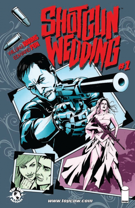 Shotgun Wedding #1 cover by Edward Pun