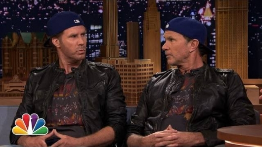 Will Ferrell and Chad Smith drum battle on The Tonight Show featuring Jimmy Fallon