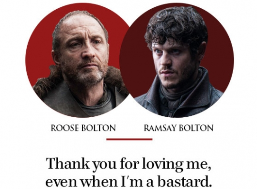 Game Of Thrones Father's Day Roose Bolton Ramsey Bolton