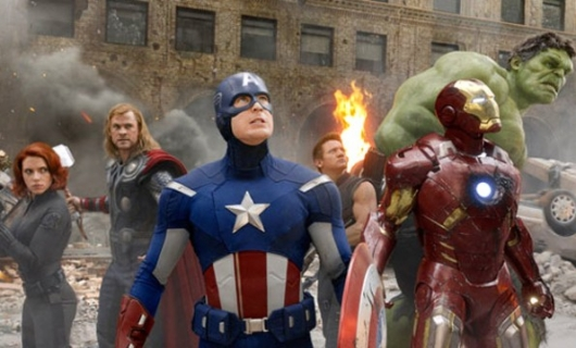 The Avengers movie group photo