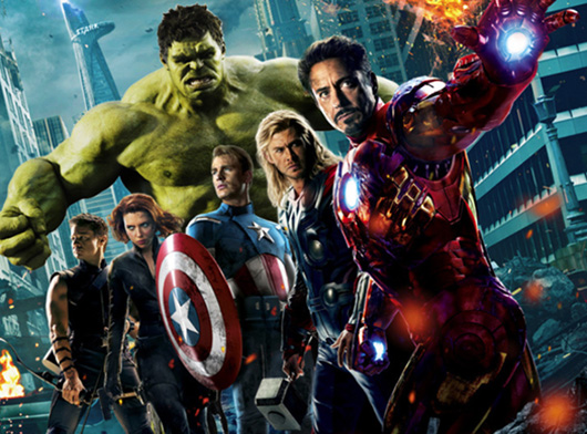 The Avengers movie group poster image