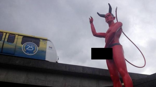 Naked Satan Statue Vancouver