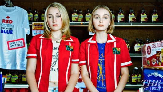 Harley Quinn Smith (left) and Lily-Rose Depp In Yoga Hosers