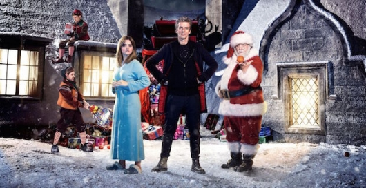 Doctor Who 2014 Christmas Special Peter Capaldi, Jenna Coleman, and Nick Frost