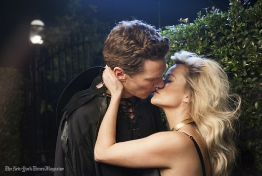 Benedict Cumberbatch and Reese Witherspoon Kiss for NY Times