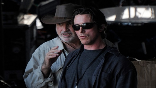 Christian Bale and Terrence Malick