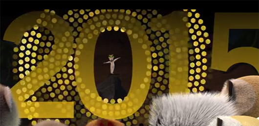 Netflix Madagascar King Julien New Year's Eve Countdown to 2015