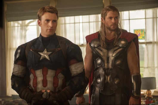 Avengers: Age of Ultron Captain America Thor Chris Evans Chris Hemsworth