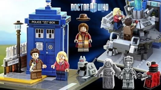 Doctor Who LEGO Set Artwork by Andrew Clark