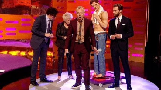 The Graham Norton Show Jamie Dornan Julie Walters, Stephen Mangan Christian Grey cake