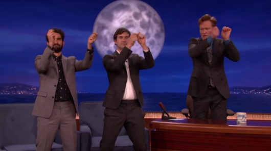 Togetherness creators Mark Duplass and Jay Duplass with Conan