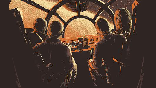 Star Wars screen print header