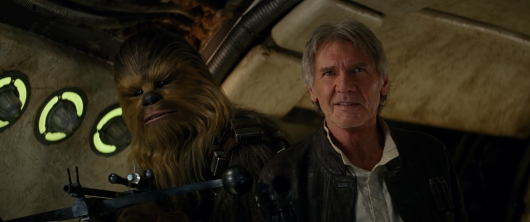 Star Wars: The Force Awakens Han Solo and Chewie